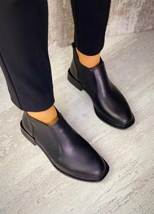 Стильные ботинки челси кожа