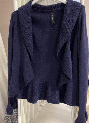 Кардиган свитер накидка шерстяная с идеальным составом