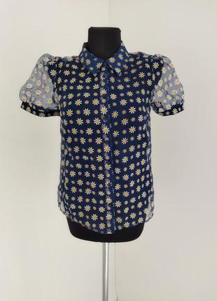 Блуза с органзи tu