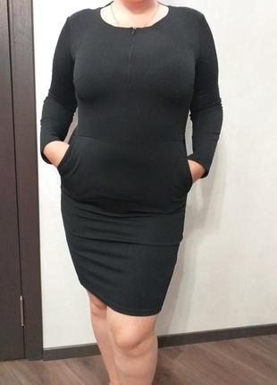 Платье на осень зиму базовое большой размер