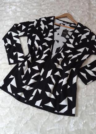Черно-белый кардиган, кофта, джемпер esmara, размер m