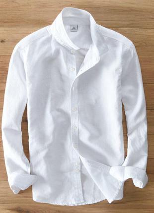 Рубашка брендовая льнаная