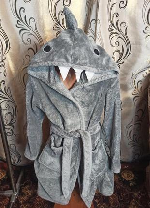 Теплый халат из велсофта lily & dan