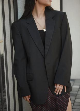 Трендовый чёрный оверсайз пиджак/жакет от next.