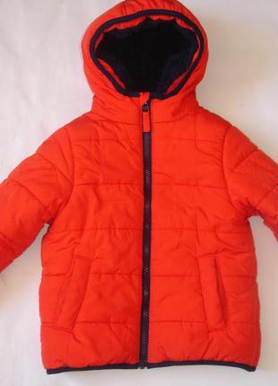 Фирменная george теплая куртка мальчику 1,5-2 лет в идеале