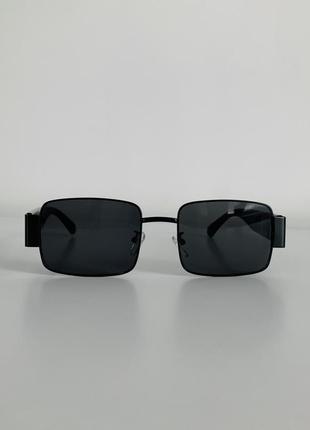 Очки, трендовые очки, черные женские очки, очки прямоугольные с широкими дужками.