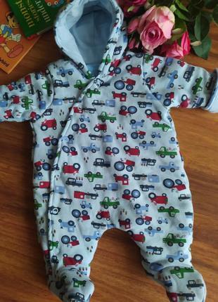 Шикарный для новорожденного комбенизон, человечик bebe bonito на 0-1 месяц.