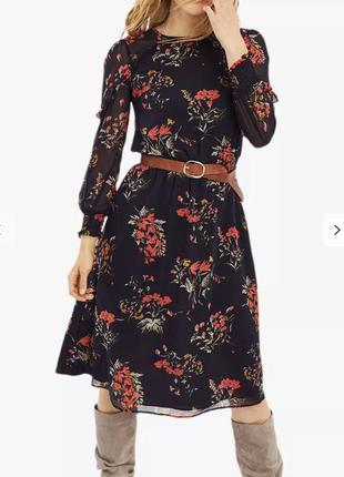 Платье шифоновое в цветы большого размера