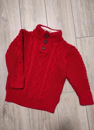 Теплый вязаный свитер джемпер