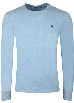 Футболка-лонгслив с последних коллекций polo ralph lauren® blue custom long-sleeve t-shirt