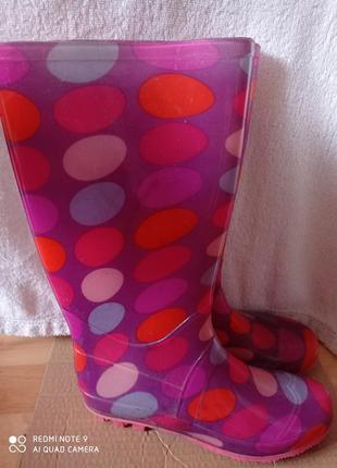 Розовые сапоги резиновые силиконовые