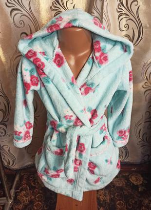 Теплый халат для девочки marks & spencer