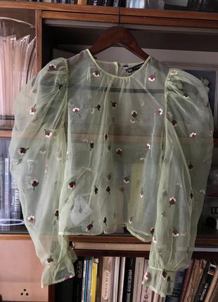 Прозрачная блуза zara
