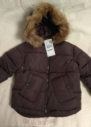 Mango зимняя курточка размер 3-4 года
