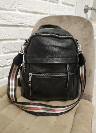 Недорогой кожаный рюкзак городской