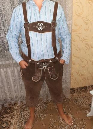 Баварские шорты октовберфест кожа