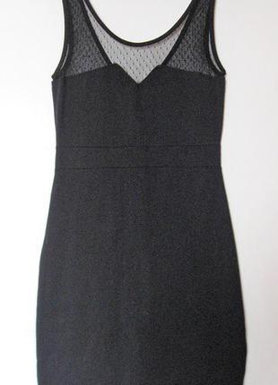 Маленькое черное платье вечернее evenс сеткой