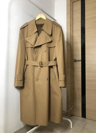 Пальто тёплый тренч на подкладе