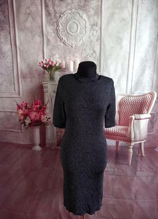 Мега стильное платье чулок вязанное