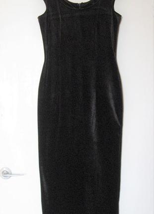 Длинное вечернее платье стреч велюр new outfit