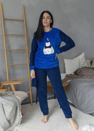 Теплая пижама флис флісова піжама кофта и штаны