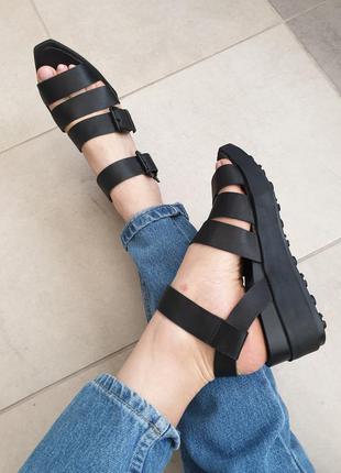 Шикарные качественные стильные кожаные брендовые босоножки сандали натуральная кожа