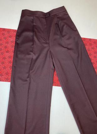 Шерстяные широкие брюки