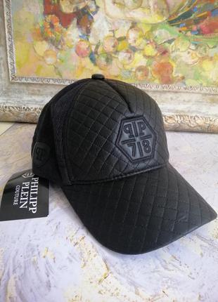 Модная брендовая черная стеганная кепка, очень крутая!