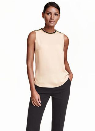 Новая роскошная блуза h&m цвета топлёного молока с декором!