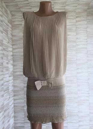 Платье кружево плиссированное rinascimento original