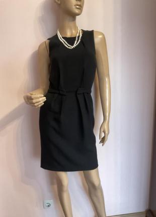 Чёрное коктельное фирменное платье/s/brend warehouse