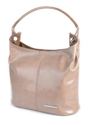 Коричневая женская сумочка мешок шоппер сумка с одной ручкой на плечо