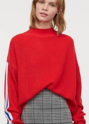 Оверсайз свитер с лампасами h&m