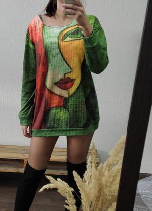 Свитшот, свитер, платье