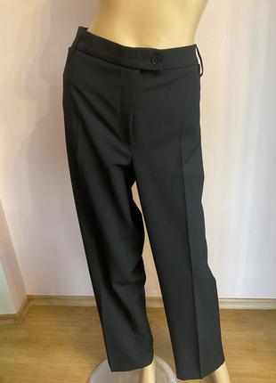 Чёрные базовые штаны-батал/48/brend gardeur шерсть 43%