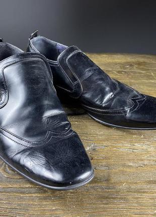 Туфли кожаные peterwerth, черные с резинкой