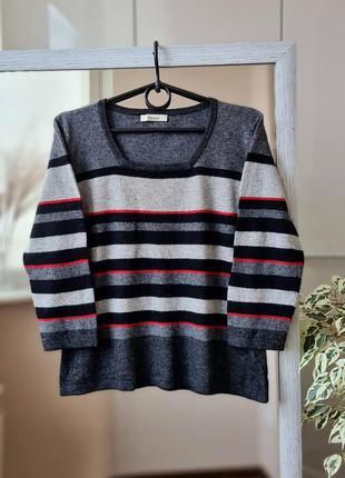 Мягенький шерстяной  джемпер свитер смесового состава   с ангорой и кашемиром 🌺