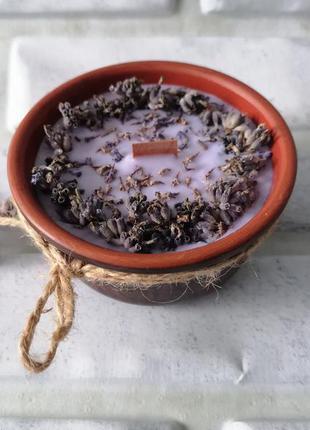 Свеча из соевого воска с ароматом лаванды