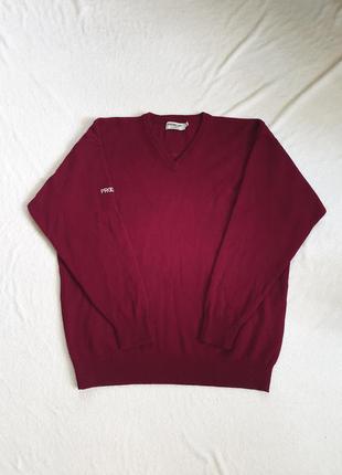 Мужской свитер с натуральной шерсти  xl
