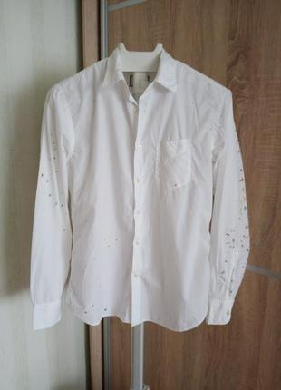 Стильна біла сорочка
