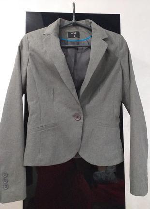 Серый пиджак от oodji