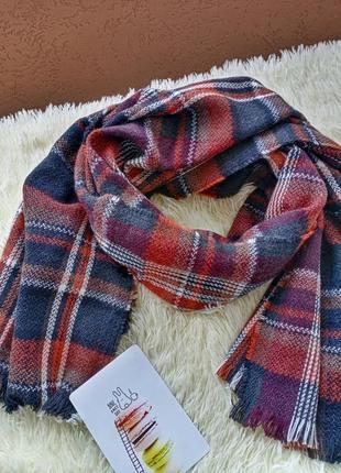 Новый клетчатый шарф палантин