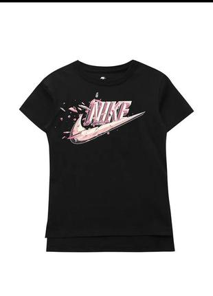 Оригинал чёрная футболка с надписью nike