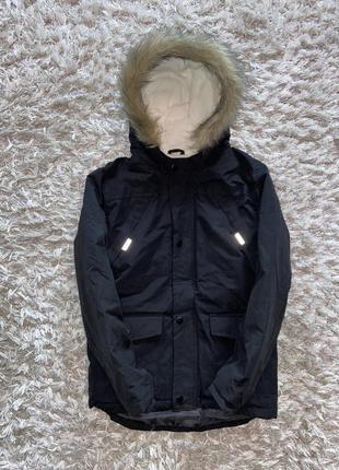 Теплая деми парка, куртка pepco, указано 10-11 лет. в идеале