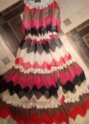 Красивое шифоновое турецкое платье 46-48 р
