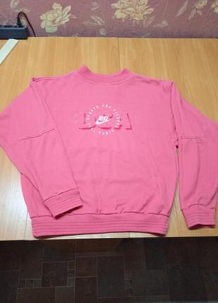 Nike,брендовый розовый свитшот женский,размер м