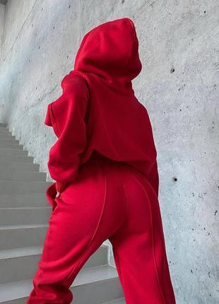 Женский спортивный тёплый костюм на флисе