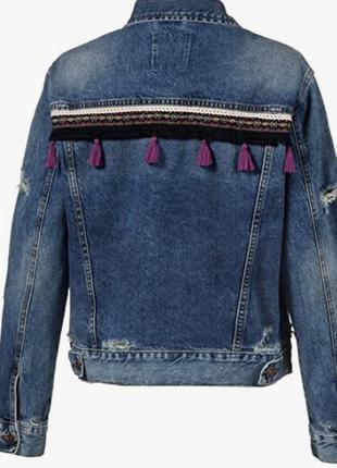 Фирменная джинсовая куртка рваная с потертосями новая ltb