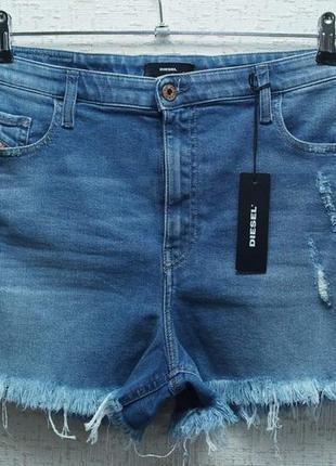 Женские винтажные джинсовые шорты diesel