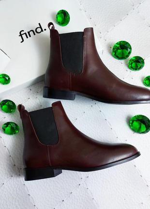 Find. оригинал коричневые кожаные ботинки челси
